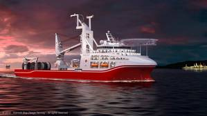 The new deepwater dive support vessel for Shanghai Salvage Bureau (SSB) is designed by Wärtsilä. (Image: Wärtsilä)