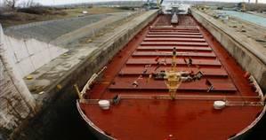 Laker in Seaways Lock: Photo courtesy of SLSMC