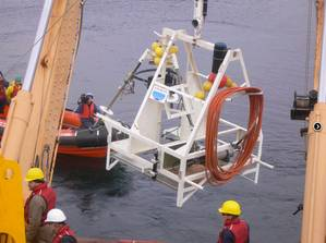 VENUS SIIM Being Deployed: Photo courtesy of OceanWorks