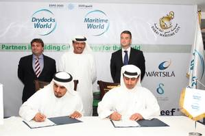 Seated L to R - Rashid Al Hebsi, CEO TASNEEF and Eng.Ali Al Suwaidi VP - DDW & MW.JPG