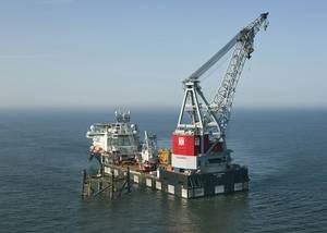 The Oleg Strashnov at work in the North Sea