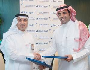Engr. Ibrahim Al-Omar, Bahri CEO (right) and Engr. Ziad Al-Shiha, SEC CEO (Left). Photo: Bahri