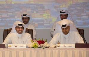 Signing of an agreement between Mwani Qatar and Milaha Photo Milaha