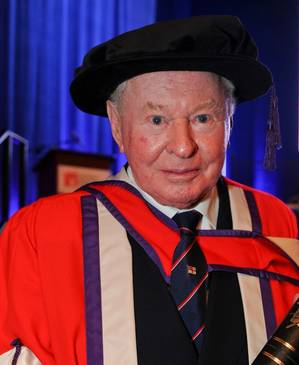 Sir Donald Gosling: Photo courtesy of Southampton Solent Univ.