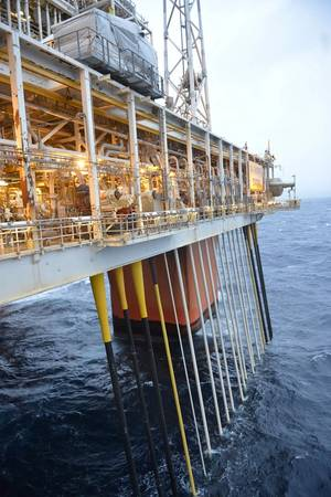 File image: an offshore platform in the North Sea (Statoil)