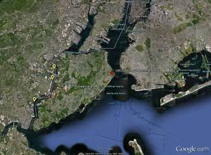 Map Showing Arthur Kill Pollution Sites: Image credit NOAA