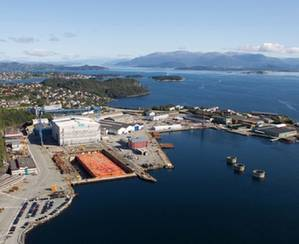 The Stord shipyard: Image courtesy of Kværner
