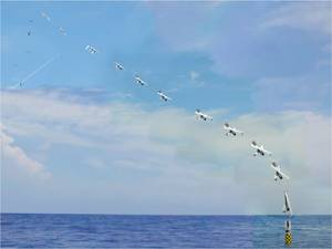 Submarine Launches Aircraft: Photo credit US NRL