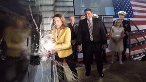 Susan Asbury Crowell christens USNS Carson City Photo Austal