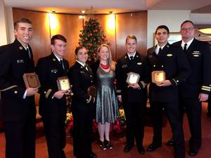 Crowley Maritime awarded six U.S. Merchant Marine Academy (USMMA) cadets with Thomas B. Crowley Memorial Scholarships. (Photo: Crowley Maritime)
