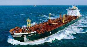 Tanker AURELIA, Shipping Company Carl Büttner GmbH & Co.KG, Length 168 m, 24,000 to (tDW)
