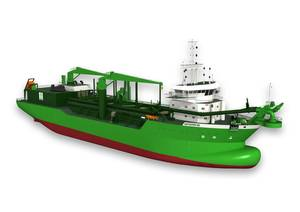 The Scheldt River will be the worlds first dual-fuelled dredger.