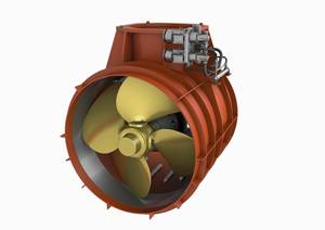 The WTT-40 addresses market requirements for high power transverse thrusters for bow and stern applications