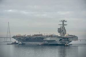 The aircraft carrier Gerald R. Ford (CVN 78). Photo by Chris Oxley