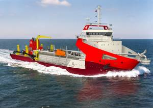 The new 8000m3 trailing suction hopper dredgers being built for the Adani group  Photo Wärtsilä