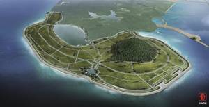 The new polder that will be developed at Pulau Tekong, one of Singapore's largest islands.  Photo Royal HaskoningDHV