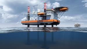 Trinity- The new jack-up lift vessel is designed by Wärtsilä. Image by Wartsila