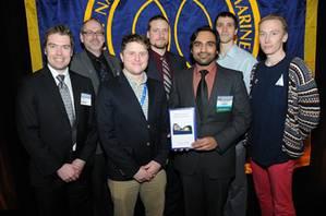 Winning team from the University of British Columbia, Canada.