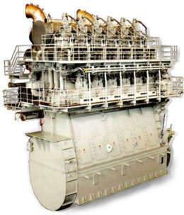 Mitsubishi-UE Diesel Engine(6UEC85LSII): Mitsubishi-UEC diesel engine was developed by us in1955. The Mitsubishi UEC series low-speed marine diesel engines are long range of ship types, including handymax and panamax bulk carriers, multi purpose cargo ships.