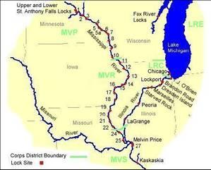 Upper Mississippi River Locks and Dams