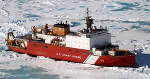 Caption: The U.S. Coast Guard Cutter Healy (Photo: U.S. Coast Guard)