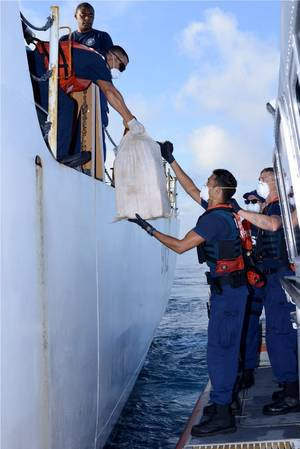 USCG Offloading Drug consignment