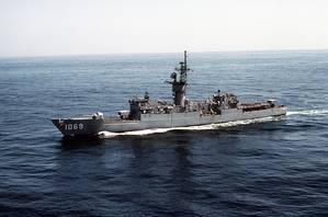 USS Bagley (DE-1069). Credit: PH1 S. Smith.