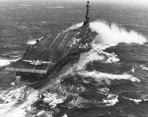 USS Essex (CV-9). Official U.S. Navy Photograph, from the collections of the Naval Historical Center.