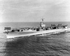 Official Navy photo of USS Ranger (CV-4)