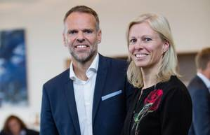 Ulstein Group Deputy CEO Tore Ulstein and CEO Gunvor Ulstein Photo Ulstein Group