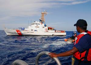 Cutter Chandeleur: Photo credit USCG