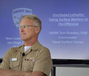 Vice Adm. Tom Rowden (E.H. Lundquist photo)