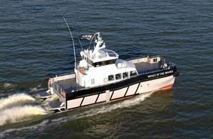 Werkendam Aerial photo of multipurpose catamaran.