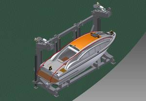 Vestdavit multi purpose davit for PGS Ramform stowed.jpg
