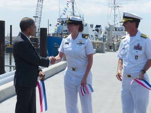 Ribbon-cutting ceremony: Photo USMMA
