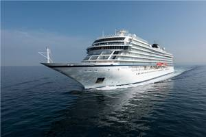 Viking Sky, the third of six cruise ships Viking Ocean Cruises has ordered (Photo: Fincantieri)