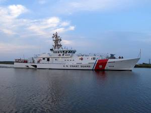 USCGC William Trump during builders trials in the U.S. Gulf of Mexico.