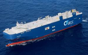 World's first LNG-fueled pure car and truck carrier Photo United European Car Carriers