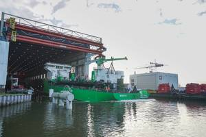 Worlds first LNG-powered hopper dredger Minerva launched Photo Royal IHC