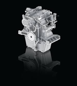 The new ZF W10000 transmission, a new generation transmission for the Offshore and Tugboat markets, available with ratios from 2.0 to 7.9:1 (Image: ZF)