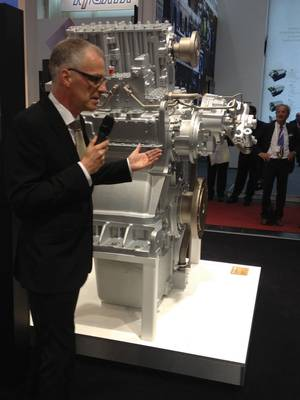 ZF Marine's André Körner, during its introduction at SMM 2014.