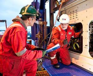 Bibby engineers working on an ROV on-board one of its subsea support vessels