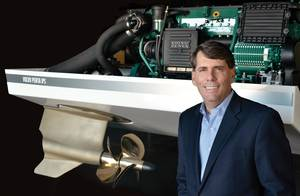 "Ron Huibers, President of Volvo Penta Region America, said ""We have the mandate to grow the business substantially; we want to double the business in the next few years."""