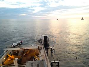 A DSM mooring operation in the North Sea