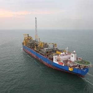 FPSO Aseng sailaway. (Photo: Glencore)