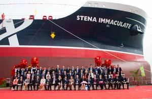 Guests at the Stena Immaculate's naming ceremony (Photo: Stena Bulk)