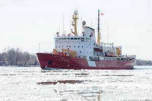 The CCGS Pierre Radisson, a 320 ice breaker from the Canadian Coast Guard (Source: John E Heintz Jr / Shutterstock.com)