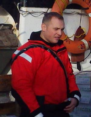 Petty Officer Third Class Travis Obendorf died in a Seattle hospital Dec. 18 as a result of injuries he sustained during search and rescue operations near Amak Island, Alaska, Nov. 11, while serving aboard Coast Guard Cutter Waesche. Photo courtesy Coast Guard Cutter Waesche.