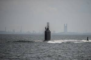 HII's Newport News Shipbuilding division has been awarded a $219 million modification to a previously awarded contract to execute maintenance and modernization efforts on the submarine USS Columbus (SSN 762), shown here in Yokosuka, Japan. (U.S. Navy photo)