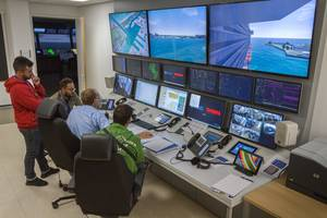 Carnival's hi-tech control room. CREDIT Carnival Corp.